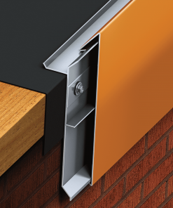 A non-penetrating design eliminates the need for stripping in and heat welding, maintaining the watertight integrity of the installation. PAC-TITE Angular Fascia features an extruded aluminum anchor bar to securely terminate the membrane. The bar is readily available to dry-in the roof structure for added installation flexibility.
